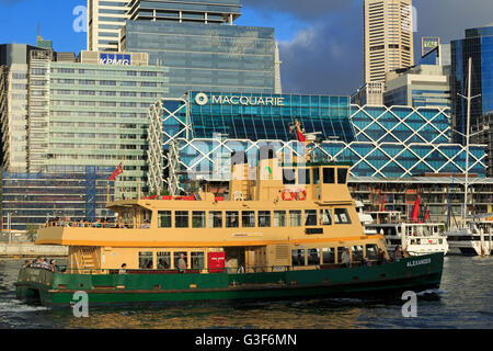 Ferry in Darling Harbour, Sydney, New South Wales, Australia - Stock Photo