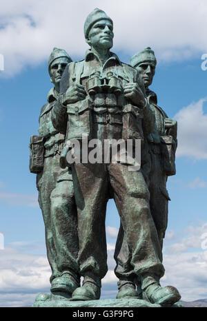The Commando Memorial, Spean Bridge, Lochaber, Scotland - Stock Photo