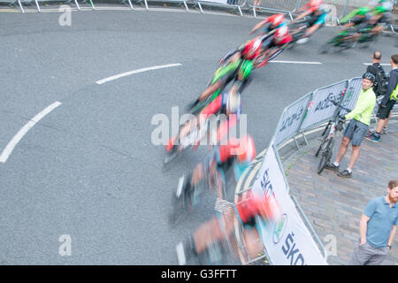 cycling Fast Speed in Portsmouth - Stock Photo