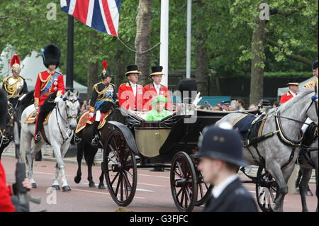 London, UK. 11th June, 2016. Trooping the Colour and Parade for the Queens 90th Birthday celebrations. © Enrique - Stock Photo