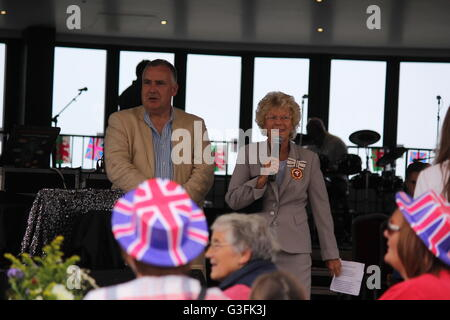 Aberystwyth, Wales, UK. 11th June, 2016. The Queen's 90th birthday celebrations 11th June 2016 The Welsh town organised - Stock Photo