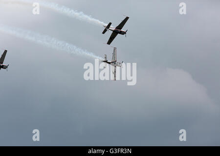 Biggin Hill, UK. 11th June 2016. Blades aerobatic display team at the Biggin Hill Festival of Fligh Credit: Keith - Stock Photo