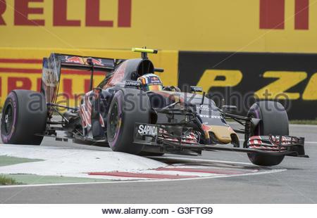 Montreal, Quebec, Canada. 9th June, 2016. Formula One- Canadian Grand Prix: CARLOS SAINZ JR. of the Scuderia Toro - Stock Photo