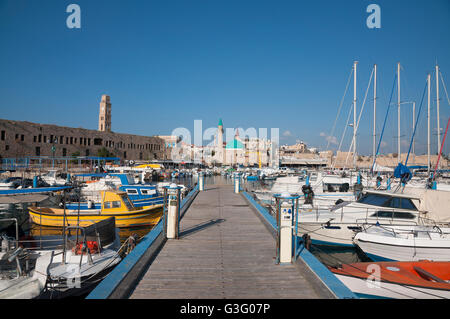 Port of Acre and the old city, Israel - Stock Photo