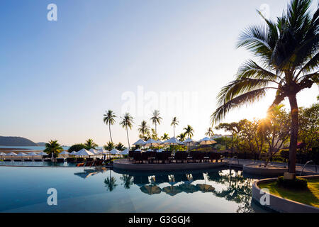 South East Asia, Thailand, Phuket, Radisson Blu hotel Plaza resort, Panwa Beach - Stock Photo