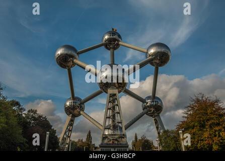 Atomium in Brussels Belgium - Stock Photo