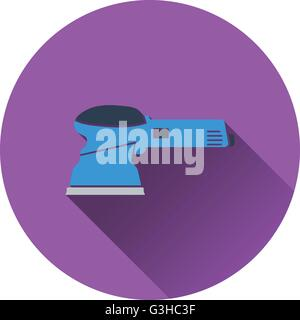 Icon of grinder. Flat design. Vector illustration. - Stock Photo