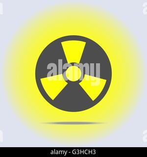 Radioactive icon in gray colors - Stock Photo