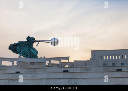 Amphitheater statue - Force of Nature II by Lorenzo Quinn Katara Cultural Village, Doha, Qatar - Stock Photo