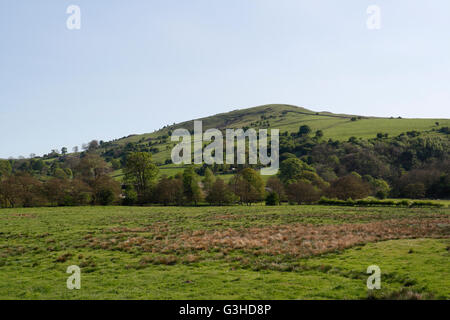 Ecton Hill Staffordshire in the Peak District, viewed from Hulme End on the Manifold Trail. UK - Stock Photo