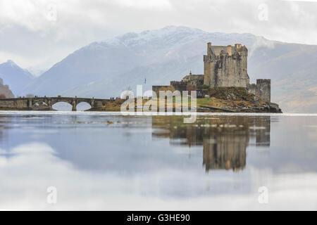 The famous Eilean Donan Castle at Highland, Scotland - Stock Photo