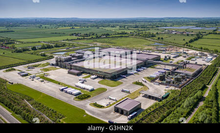 Arla Dairy Products industrial complex at Aston Clinton, Aylesbury in Buckinghamshire - Stock Photo