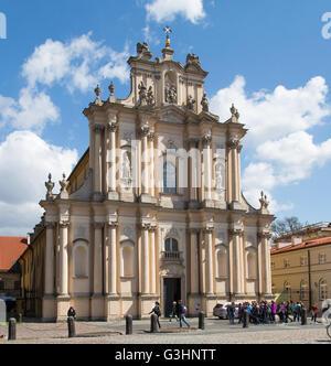 Warsaw, Poland. 21st Apr, 2016. Church of St. Joseph of the Visitationists (Polish: Kosciol Opieki sw. Jozefa w - Stock Photo