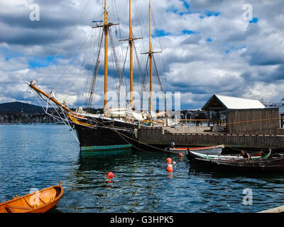 Classic Wooden Ship Anchor At Sea Port Of Lillehammer Norway