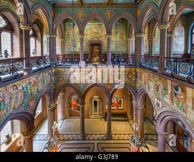 Entrance hall at the Scottish National Portrait Gallery, Edinburgh, Scotland, UK - Stock Photo