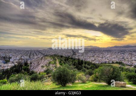 Panoramic view of Athens - Stock Photo
