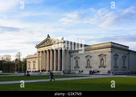 square Königsplatz, Glyptothek, Germany, Bayern, Bavaria, Oberbayern, Upper Bavaria, München, Munich - Stock Photo