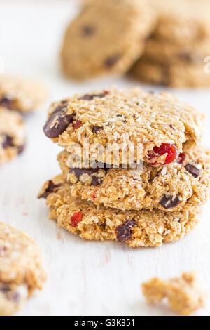 Chocolate Oatmeal Cookies - Stock Photo