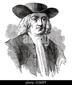 William Penn, 1644 - 1718 - Stock Photo
