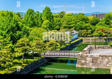 Moat of Nijo Castle in Kyoto - Stock Photo
