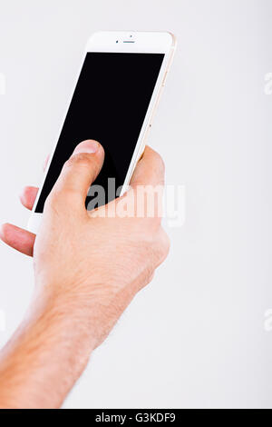 1 Adult Man Quality Mobile Phone - Stock Photo