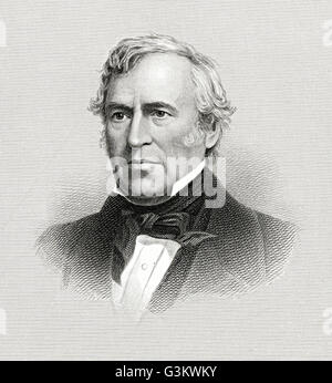 Zachary Taylor, 1784 - 1850 - Stock Photo
