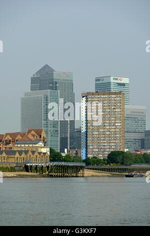 Canary Wharf, Isle of Dogs, Docklands, East London, United Kingdom - Stock Photo