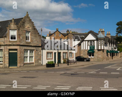 Centre of small historic town and seaside resort a former Royal Burgh on north shore Dornoch Firth Dornoch Sutherland - Stock Photo