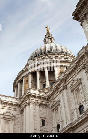 Looking up at the dome of Saint Paul's Cathedral, London, England, United Kingdom, Europe - Stock Photo
