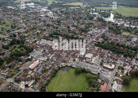 An aerial view of Marlow, Buckinghamshire - Stock Photo