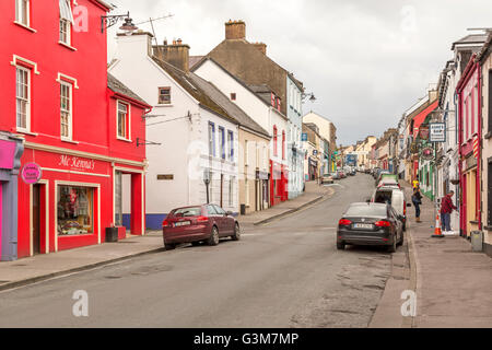 Colorful architecture in Dingle Town, Dingle Peninsula, County Kerry, Republic of Ireland. - Stock Photo
