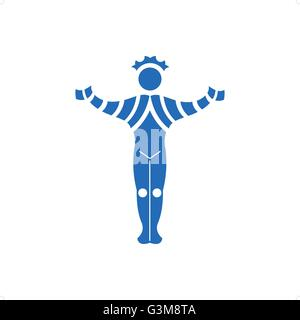 Abstract statue of man vactor illustration isolated on white background. - Stock Photo