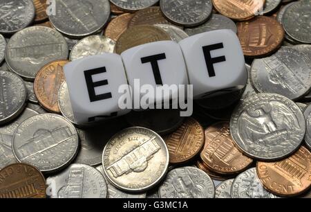 Exchange Traded Fund: - Stock Photo