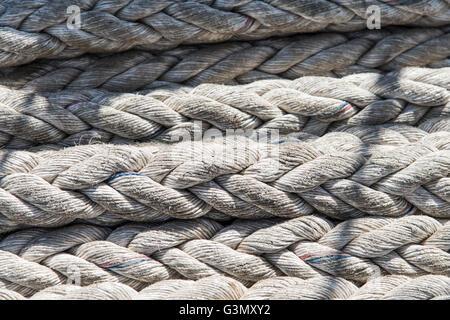 Closeup ship's cord texture - Stock Photo