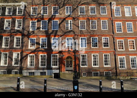 Kings Bench walk, Inner Temple, Inns of Court, Sollicitors Chambers buildings, London, Great Britain - Stock Photo
