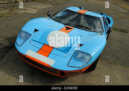 Ford Gt Mkii Endurance Racing Car In Gulf Oil Colours Stock Photo