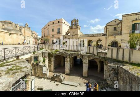 Italy, Basilicata, Matera, Materdomini church and Santo Spirito church