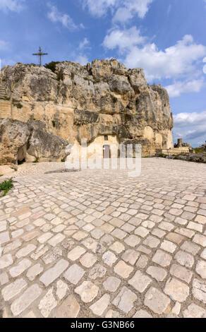 Italy, Basilicata, Matera, Madonna de Idris church - Stock Photo