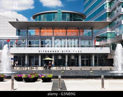 Kitchener City Hall, Kitchener Ontario Canada Stock Photo, Royalty ...