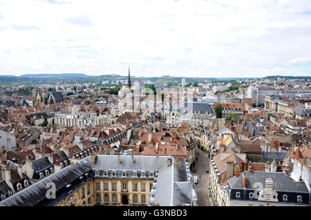 View of city from Philippe le Bon Tower, Dijon, Côte d'Or departement, Burgundy, France, Europe - Stock Photo