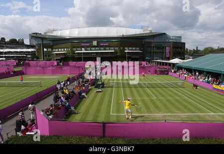 AELTC, London 2012, Olympic Tennis Tournament, Olympics, Wimbledon, London, England, Great Britain, Europe - Stock Photo