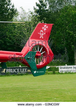 A Wales air ambulance EC 135 helicopter - Stock Photo