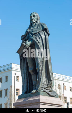 Monument Ernst I., the Pious, 1601-1675, Duke of Saxe-Gotha-Altenburg, a colonel in the Thirty Years' War, important - Stock Photo