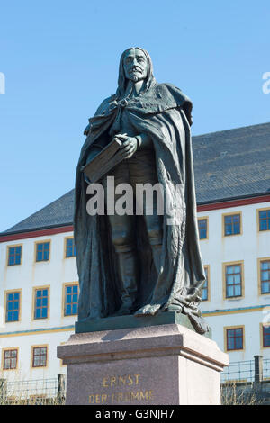 Monument Ernst I., the Pious, 1601-1675, Duke of Saxe-Gotha and Sax-Altenburg, a colonel in the Thirty Years' War, - Stock Photo