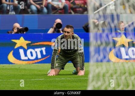 Warsaw, Poland. 02nd May, 2016. Footballer of Legia Warszawa during the Final of Polish Cup at the National Stadium - Stock Photo