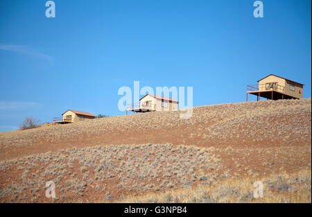 Namib Desert Star Dune Camp in Namibia - Stock Photo