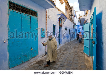 Morocco,Chefchaouen,daily life - Stock Photo