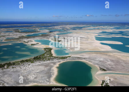 Aerial view of Christmas Island (Kiritimati), Kiribati - Stock Photo