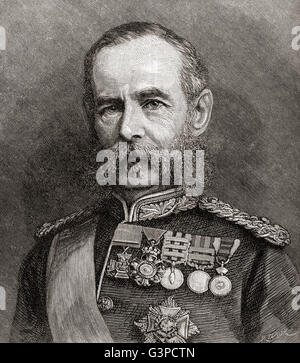 Field Marshal Frederick Sleigh Roberts, 1st Earl Roberts, 1832 – 1914. British soldier and commander. - Stock Photo