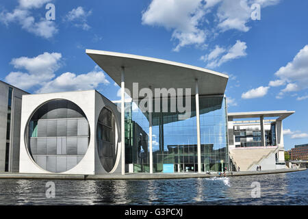 The modern government quarter buildings complex ( Regierungsviertel ) River Spree Berlin Germany (  Bundestages - Stock Photo